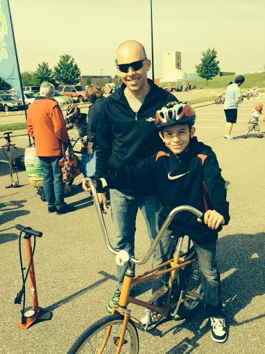Bill Smith taking some time off the bike to help out at the bike safety rodeo