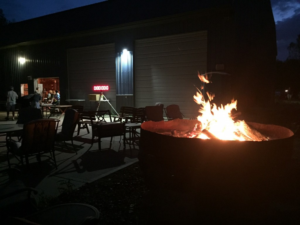 The start/finish location had a raging fire pit to welcome racers in the pre-dawn hour before the race.