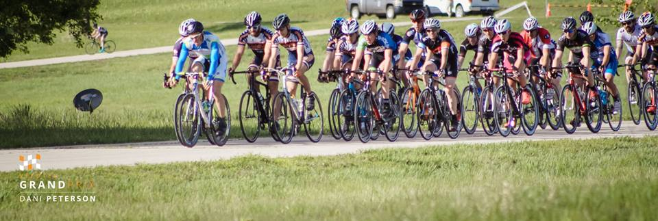 Cody Jones leading the Men's Cat 4 criterium. Photo credit: Dani Peterson