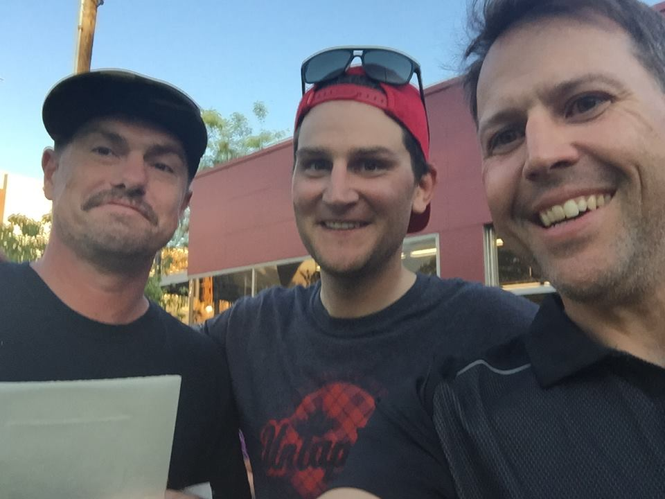 Shane Jones supported Cody Jones on his epic ride. Along the way, he realized he had a crush on Ted King. Kleidosty took this selfie to document his happiness.