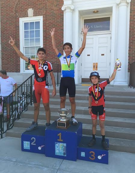 Nigel Vaught on the top step of the podium at Truman Cup!