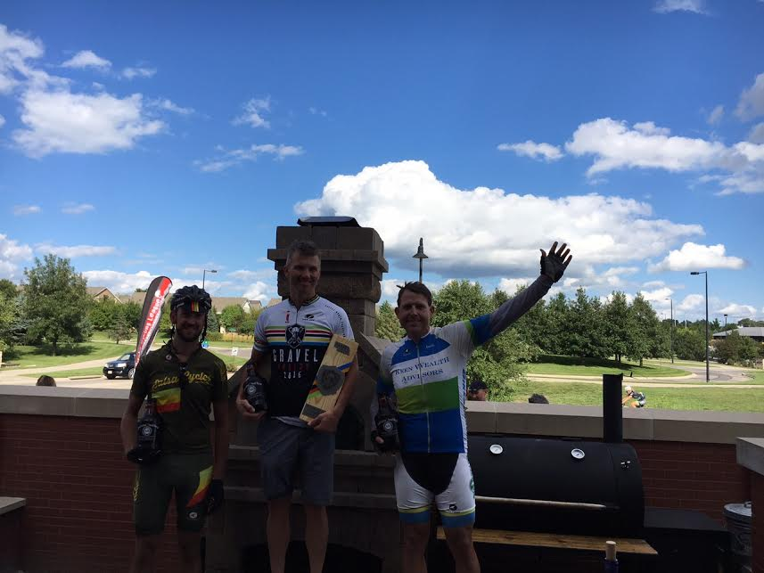 Fat bike Gravel Worlds podium photo